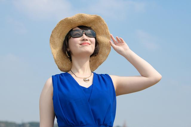 サングラスをかけている女性